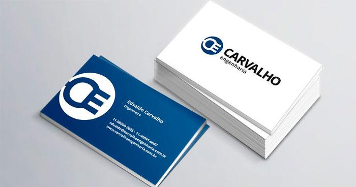 Criação de Cartão de Visita Carvalho Engenharia