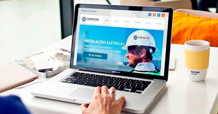 Criação de site Responsivo Carvalho Engenharia