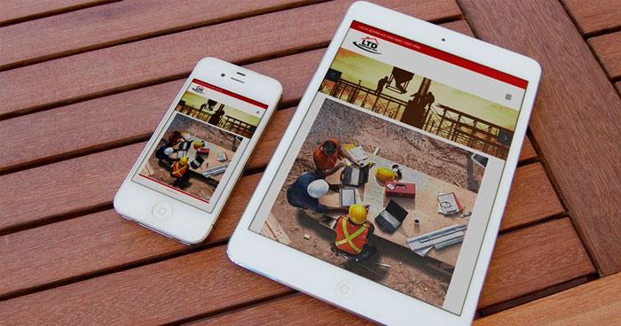 Criação de site Mobile LTD Engenharia