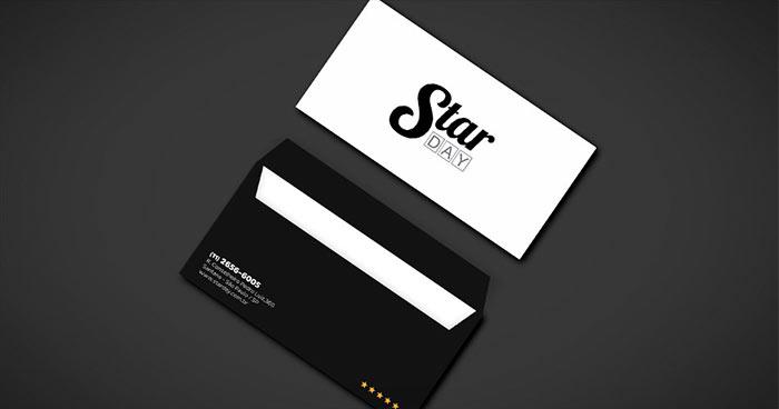 criacao-de-papelaria-para-spa-envelope-carta-star-day