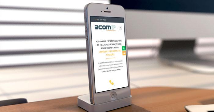 Criação de site Mobile ACOMIP