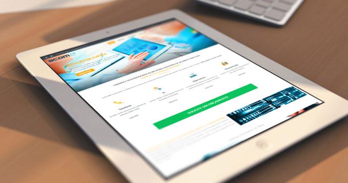 Criação de site para tablets ACOMIP